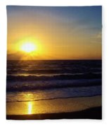 Sunrise - Florida - Beach Fleece Blanket