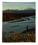 Sunrise On Mnt Denali, Trapper Creek Fleece Blanket