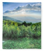 Sunrise Over Blue Ridge Mountains Scenic Overlook  Fleece Blanket