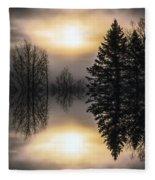Sunrise-sundown Fleece Blanket