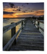 Sunset At Wildcat Cove Fleece Blanket