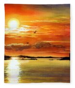 Sunset Lake Fleece Blanket