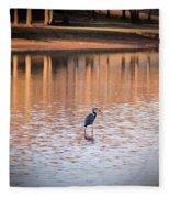 Sunset On The Lake Fleece Blanket