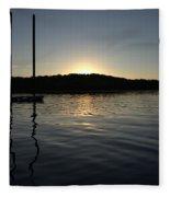 Sunset On The Pier Fleece Blanket