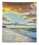 Sunset Over Lake Superior, Keweenaw Fleece Blanket