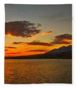 Sunset Over Mackay Reservoir Fleece Blanket