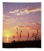 Sunset Over The Sea, Venice Beach Fleece Blanket