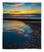 Sunset Reflections Fleece Blanket