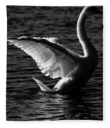 Swan Wingspan Fleece Blanket