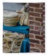 Charleston Sweet Grass Baskets Fleece Blanket