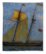 Tall Ship Sailing Fleece Blanket