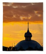Tampa Bay Hotel Dome At Sundown Fleece Blanket
