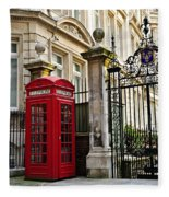 Telephone Box In London Fleece Blanket