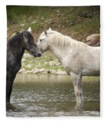 Tender Moments - Wild Horses  Fleece Blanket