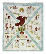 Tenochtitlan (mexico City) With Aztec Fleece Blanket