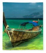 Thai Longboat Fleece Blanket