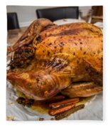 Thanksgiving Turkey Dinner Fleece Blanket