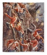 The 5th Division Storming By Escalade Fleece Blanket