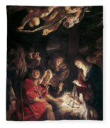 The Adoration Of The Shepherds Fleece Blanket