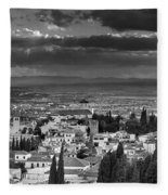 The Alhambra And Albaycin In Granada Fleece Blanket