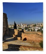 The Alhambra Palace Cubo Tower Fleece Blanket