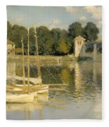 The Argenteuil Bridge Fleece Blanket