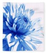 The Blue Dahlia Flower Fleece Blanket