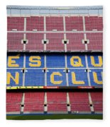 The Camp Nou Stadium In Barcelona Fleece Blanket