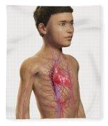 The Cardiovascular System Pre-adolescent Fleece Blanket