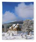 The Chapel On The Rock I Fleece Blanket