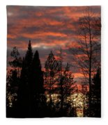The Close Of Day Fleece Blanket