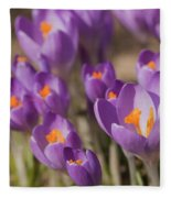 The Crocus Flowers Fleece Blanket