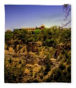 The El Tovar Hotel At The Grand Canyon Fleece Blanket
