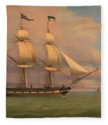 The English Brig Norval Before The Wind Fleece Blanket