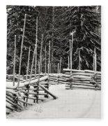 The Fence Of Kovero Fleece Blanket