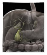 The Gallbladder Fleece Blanket