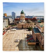 The Gendarmenmarkt And German Cathedral In Berlin Fleece Blanket