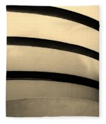 The Guggenheim In Sepia Fleece Blanket