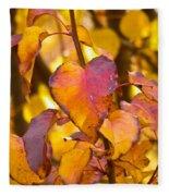 The Heart Of Fall Fleece Blanket