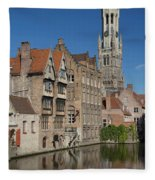 The Historic Center Of Bruges Fleece Blanket