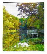 The Lake... Fleece Blanket