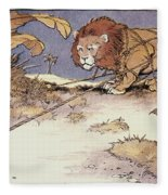 The Lion And The Mouse Fleece Blanket