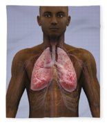 The Lungs And Cardiovascular System Fleece Blanket