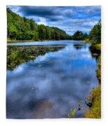 The Majestic Bald Mountain Pond Fleece Blanket