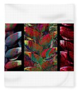 The Many Faces Of Heliconia  Fleece Blanket