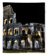 The Moon Above The Colosseum No2 Fleece Blanket