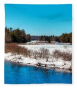 The Moose River - Old Forge New York Fleece Blanket