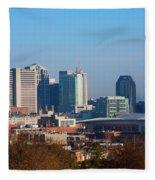 The Nashville Skyline As Viewed Fleece Blanket