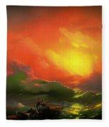 The Ninth Wave Fleece Blanket
