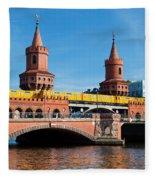 The Oberbaum Bridge In Berlin Germany Fleece Blanket